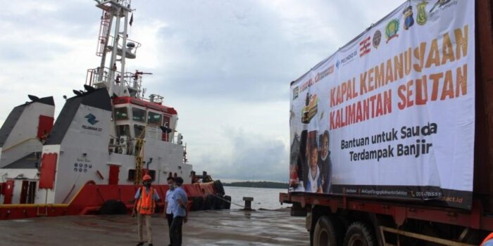 Alhamdulillah, Kapal Kemanusiaan ACT Tiba di Banjarmasin, Bawa 1.000 Ton Bantuan