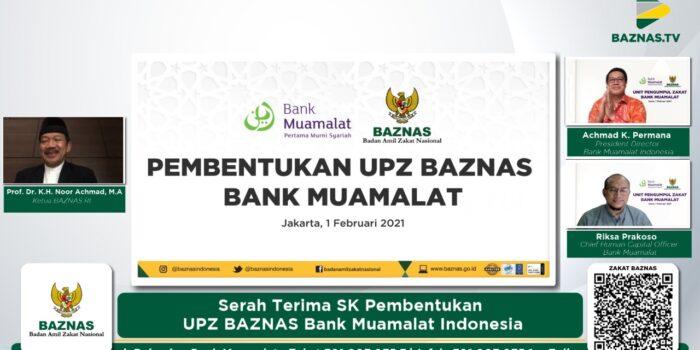 Alhamdulillah, Sah! Baznas Resmikan UPZ Bank Muamalat Indonesia