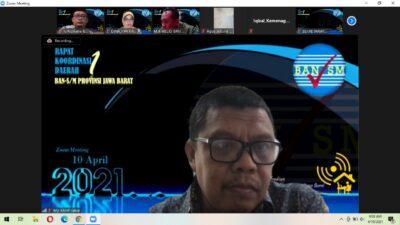 Wujud Komitmen Reformasi Akreditasi, BAN-S/M Jabar Laksanakan Rakorda Satu 2021 Virtual