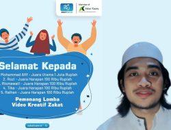 Hebat! Mahasiswa UIN Bandung Raih Juara Umum Lomba Video Inspirasi Zakat