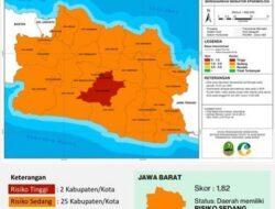 Dua Wilayah di Jawa Barat Berstatus Zona Merah