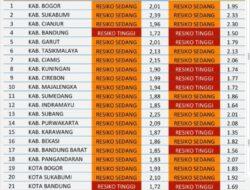 Ini dia Peta Risiko Covid-19 Kota Sukabumi Terbaru