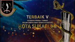 Kota Sukabumi Dapat Apresiasi Jawara Ekonomi Digital (AJEG) 2021