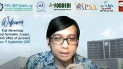 Prodi Akuntansi UMBandung Gelar Webinar Kiat Menembus Jurnal Terindeks Scopus dan WoS (Web of Science)
