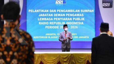 Lantik 5 Dewas LPP RRI, Menkominfo: RRI Penting Sebarluaskan Informasi Kepada Masyarakat