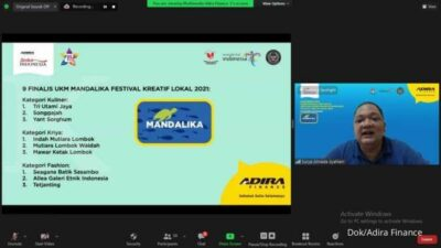 Adira Finance Kolaborasi Bareng Kemenparekraf RI Gelar Festival Kreatif Lokal 2021 di Mandalika
